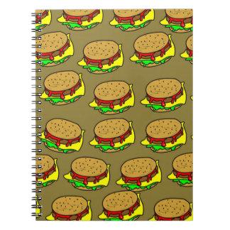 Burger Wallpaper Notebook