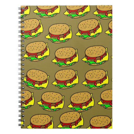 Burger Wallpaper Spiral Note Book