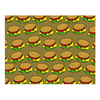 Burger Wallpaper Postcard