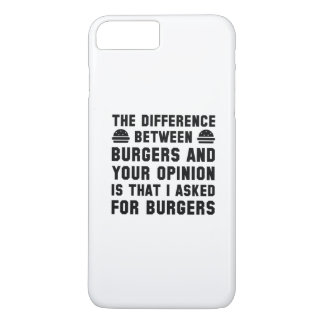 Burgers And Your Opinion iPhone 7 Plus Case