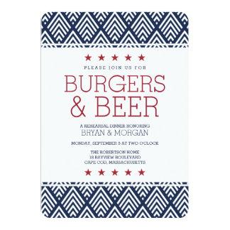 Burgers & Beer Rehearsal Dinner 13 Cm X 18 Cm Invitation Card
