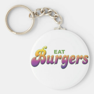 Burgers, Eat Key Chain