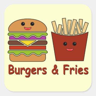 Burgers & Fries Square Sticker