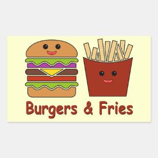 Burgers & Fries Sticker
