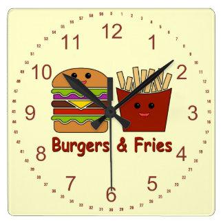 Burgers & Fries Wall Clock