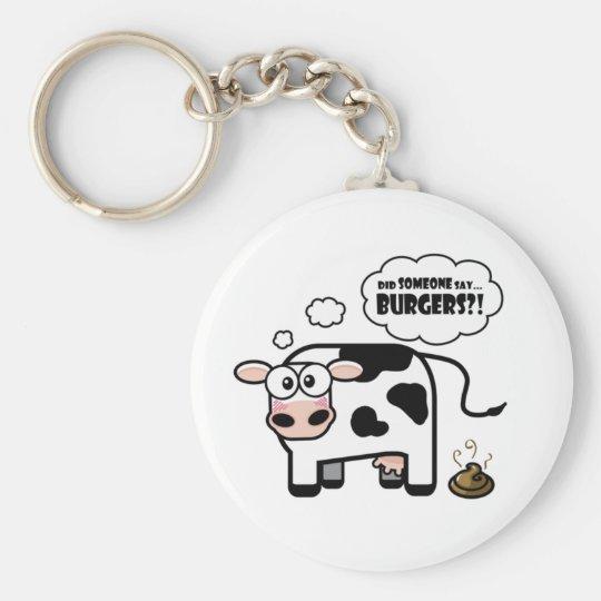 Burgers?! Funny Cow Keychain