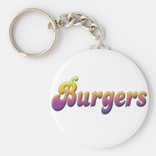Burgers Key Chain