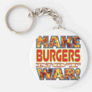 Burgers Make X Basic Round Button Key Ring