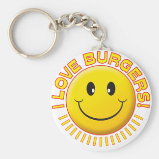 Burgers Smile Key Chains