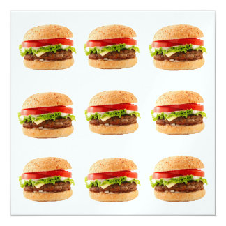 Burgers - SRF 5.25x5.25 Square Paper Invitation Card
