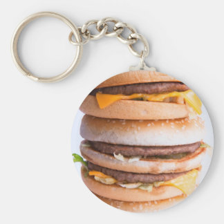 Burgers Stack Basic Round Button Key Ring
