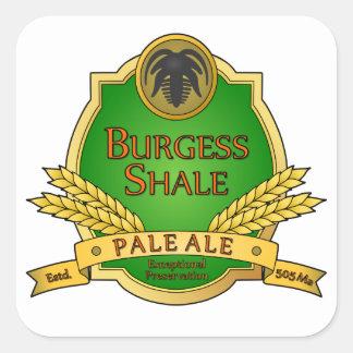 Burgess Shale Pale Ale Square Stickers