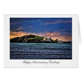 Burgh Island, Bigbury, Devon - Happy Anniversary Greeting Card