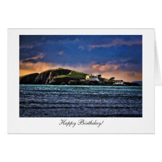 Burgh Island, Bigbury, Devon - Happy Birthday Greeting Card