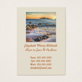 Burgh Island from Bantham at Sundown... Business Card