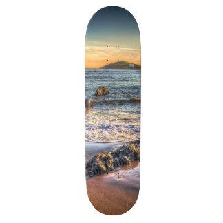 Burgh Island from Bantham at Sundown... Custom Skate Board