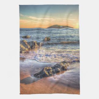 Burgh Island from Bantham at Sundown Kitchen Towels