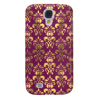 Burgundy and gold damask galaxy s4 case