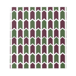 Burgundy and Green Panel Fence Note Pads