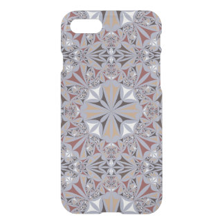 Burgundy and Grey Elegant Pattern iPhone 7 Case