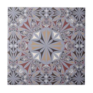 Burgundy and Grey Elegant Pattern Tile