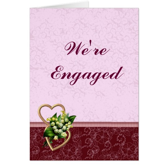 Burgundy and Pink Engagement Announcement