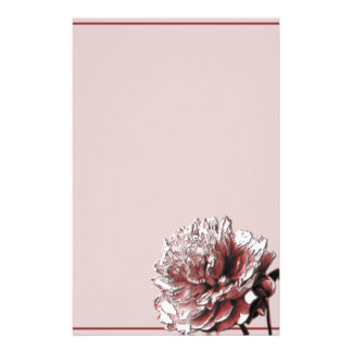 Burgundy and Pink Peony Personalised Stationery