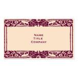 Burgundy Art Nouveau Floral Pack Of Standard Business Cards