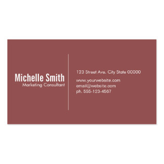 Burgundy background with Divider Line Pack Of Standard Business Cards