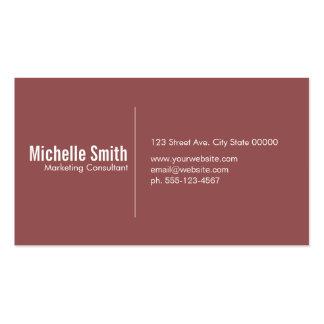 Burgundy background with Divider Line Pack Of Standard Business Cards