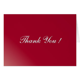 Burgundy Blank Inside Thank You Card