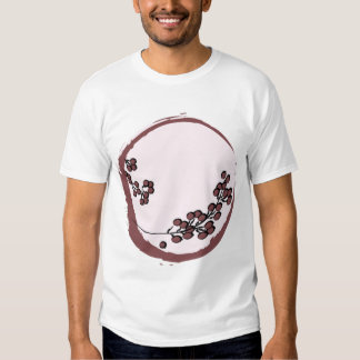 Burgundy Blossoms on Pink T-shirts
