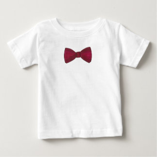 Burgundy Bow Tie Bowtie Wedding Prom Baby Tee
