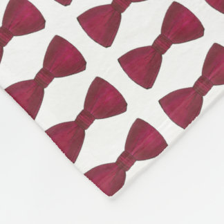 Burgundy Bow Tie Wedding Bachelor Party Blanket