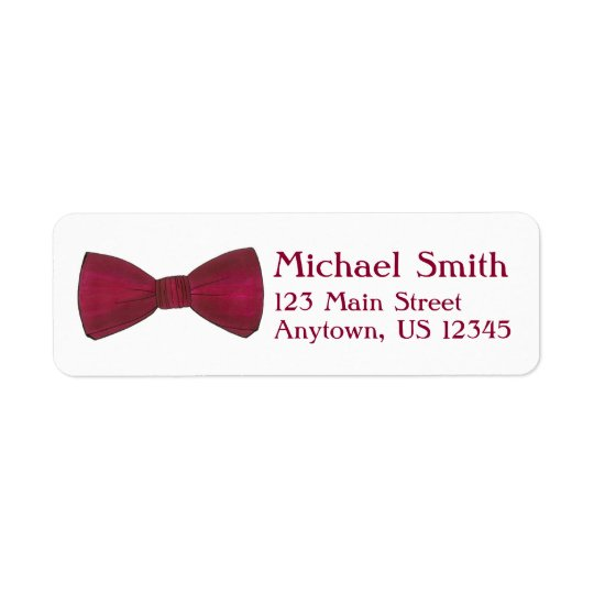 Burgundy Bow Tie Wedding Prom Formalwear Label