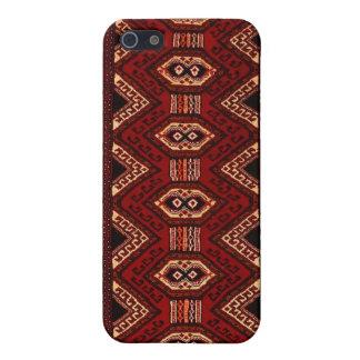 Burgundy-Burnt Sienna Kilim iPhone 5s Cover