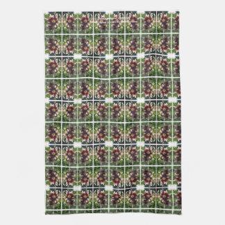 Burgundy Creme Asiatic Lily kitchen towel