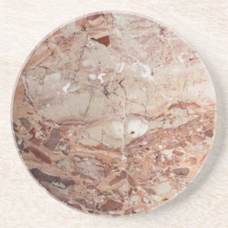 Burgundy Crimson Stoney Pebble Marble finish Coaster