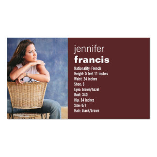 Burgundy Crossing Mini Comp Card Pack Of Standard Business Cards