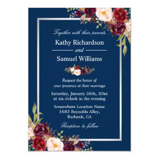 Navy blue wedding invitations announcements zazzlecouk for Navy and silver wedding invitations uk