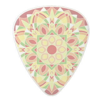 Burgundy Geometric Star Design Guitar Pick