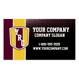 Burgundy & Gold Football Card Pack Of Standard Business Cards