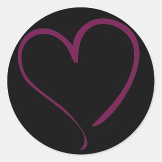 Burgundy Heart Sticker - Choose Color!