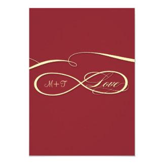 Burgundy Infinity Symbol Sign Infinite Love Invite