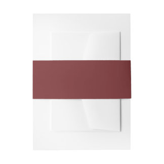 Burgundy Invitation Belly Band