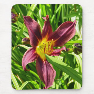 Burgundy Lily Mouse Mat