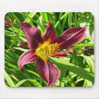 Burgundy Lily Mousemat