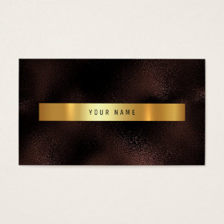 Burgundy Maroon Gold Vip Ombre Glitter Business Card