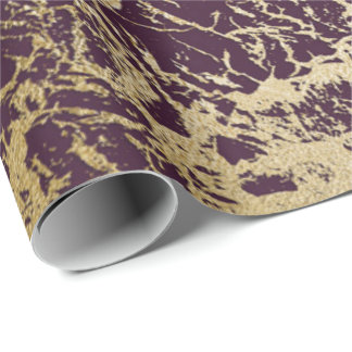 Burgundy Maroon Red Gold Glam Abstract Marble Wrapping Paper