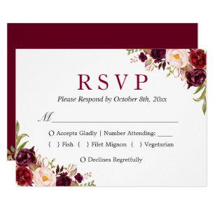 response card templates